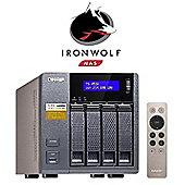 QNAP TS-453A-4G/8TB-IronWolf 4-Bay 8TB (4x2TB Seagate IronWolf) Network Attached Storage