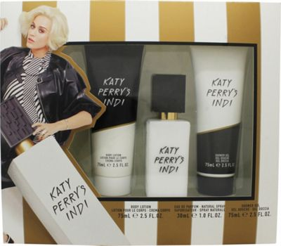 Katy Perry's Indi Gift Set 30ml EDP + 75ml Shower Gel + 75ml Body Lotion For Women