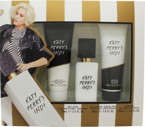Katy Perry's Indi Gift Set 30ml EDP + 75ml Shower Gel + 75ml Body Lotion For Women