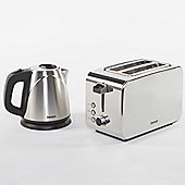 Igenix IGPK06 Breakfast Set Kettle and 2 Slice Toaster - Brushed Stainless Steel