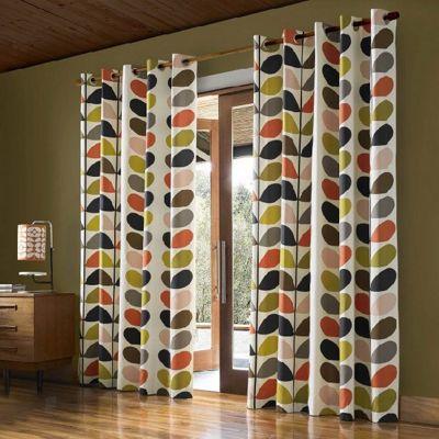 Orla Kiely - Multi Stem - Multi - Eyelet Curtains - 46x54