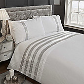 Rapport Carly Duvet Cover Set - White
