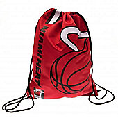 NBA Basketball Miami Heat Cropped Logo Drawstring Backpack 49x34x1.5cm