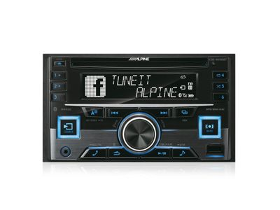 Alpine In Car Stereo-CD Receiver│RDS│Bluetooth│USB│Aux│iPod-iPhone-Android│CDE W296BT