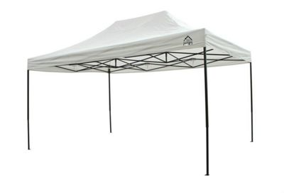 All Seasons Gazebos, Heavy Duty, Fully Waterproof, 3m x 4.5m Pop up Gazebo in White
