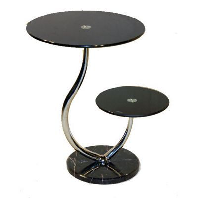 Set of 2 Oxshott Black Lamp Tables