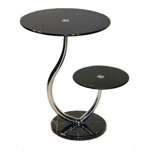 Set of 2 Oxshott Black Lamp Tables