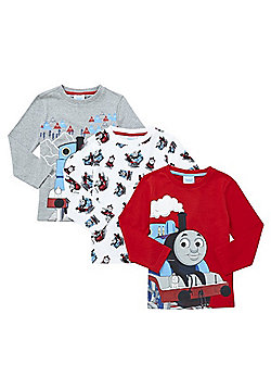 Thomas & Friends 3 Pack of Long Sleeve T-Shirts - Grey