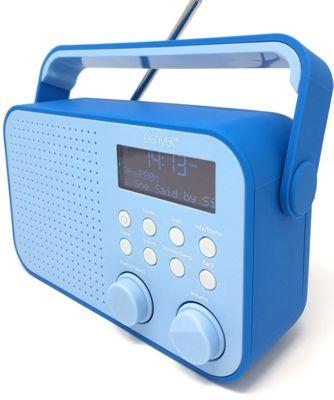 Denver DAB-39 Blue Rubberised Portable Digital DAB+ Radio