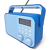 Denver DAB-39 Blue Rubberised Portable Digital DAB+ Radio