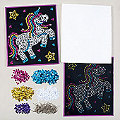 Unicorn Sequin Picture Kit for Children to Design Make & Display - Creative Craft Set for Kids