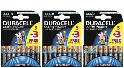 24 x Duracell MX2400 Ultra Power AAA Size Batteries