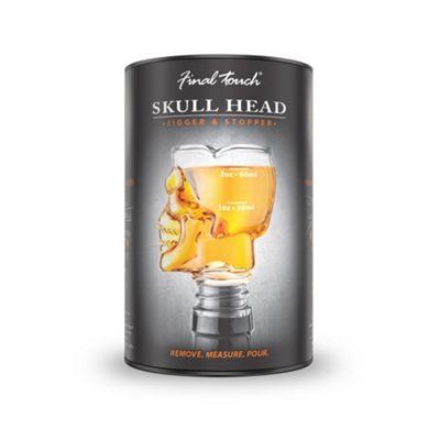 Final Touch Bottle-top Skull Head Jigger Stopper with Gift Tube