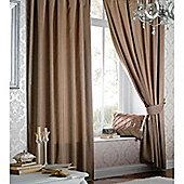 Catherine Lansfield Faux Silk Curtains 46x72 (117x183cm) - Latte