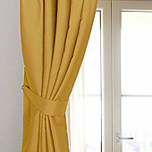 Homescapes Mustard Yellow Ochre Herringbone Chevron Curtains Tie Backs Pair