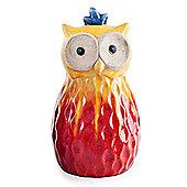 Red Tropic Sunshine Terracotta Owl Garden Ornament