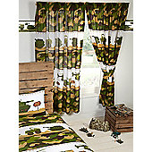 Army Camp Camouflage Lined Curtains 72""