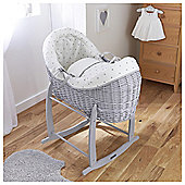 Lullaby Hearts Crossover Moses Basket Pod, Grey