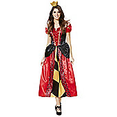 Disney Alice in Wonderland Queen of Hearts Adult Dress-Up Costume - Red