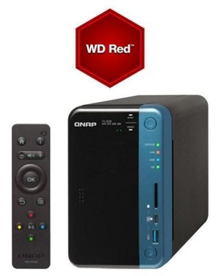 Qnap TS-253B-4G-12TB-RED 2-Bay 12TB(2x6TB WD RED) Quad-core Diskless NAS