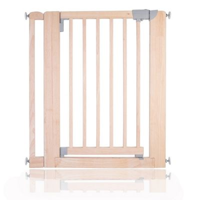 Safetots Chunky Wooden Pressure Fit Stair Gate Natural 81cm-89cm