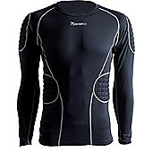 Precision Gk Padded Base-Layer Shirt - Black
