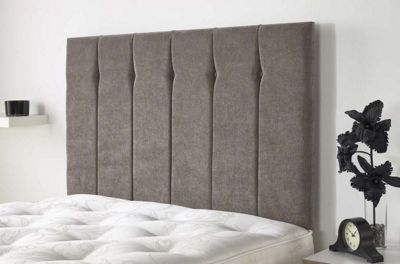 Aspire Furniture Portmoor Headboard in Katsuro Linen Fabric - Taupe - Single 3ft