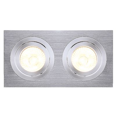Tria Downlight Rectangular Aluminium-Brushed Max. 2X 50W