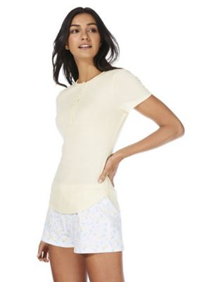 F&F Henley Lounge Top Yellow 8-10