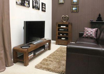 Shiro Walnut Low Television Cabinet