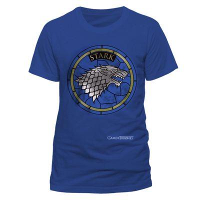 Game Of Thrones - Stark Window T-shirt Blue Medium - Film and TV T-Shirts