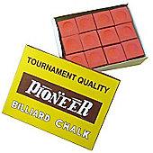 Pioneer Billard Chalk (12 Pieces) - Chalk Colour : Red