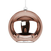 Modern Globe Ceiling Pedant Shade, Rose Gold Glass