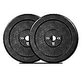"CastXPlate Cast Iron Weight Plate 1"" 1INCH 2x10KG"