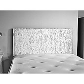 ValuFurniture Doll Velvet Fabric Headboard - Silver - Small Double 4ft