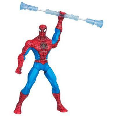 The Amazing Spiderman Web Battlers Spinnin Staff Spider-Man Figure