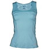 Reebok Radiant PlayDry Womens Exercise Fitness Tank Vest Blue - Blue