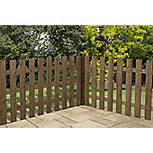 Mercia Palisade Picket Fence 4ft Flat Top Dipped