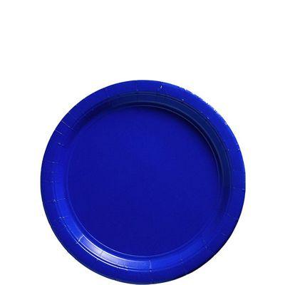 Blue Paper Dessert Plates 17cm, Pack of 20