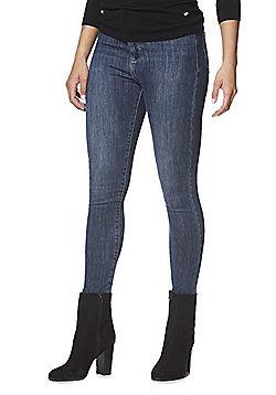 F&F Super High Rise 4 Way Stretch Skinny Jeans - Dark wash