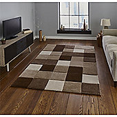 Brooklyn Edgy Squares Rug - Brown