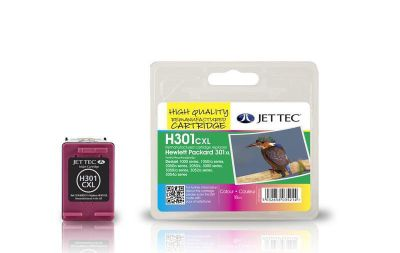 HP301XL COL CH564EE Colour Remanufactured Ink Cartridge by JetTec - H301CXL