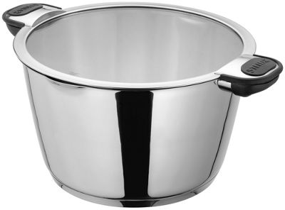 Stellar Tate Easy Drain Casserole Pot Pan with Glass Draining Lid 24cm