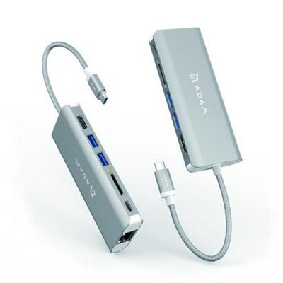 Adam Elements CASA Hub A01 USB 3.1 (3.1 Gen 2) Type-C Silver interface
