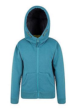 Mountain Warehouse Nordic Fur Lined Hoody w/ Sherpa Fleece Lining and Full Zip - Green