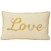 Riva Home Christmas Tide Love Gold Cushion Cover - 30x50cm