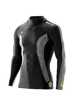Skins Dnamic Thermal Long Sleeve Top Mock Neck - Black