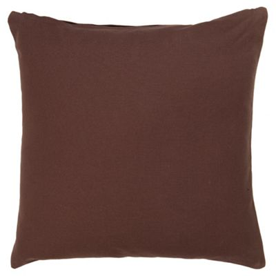 Tesco Value Cotton Cushion, Chocolate