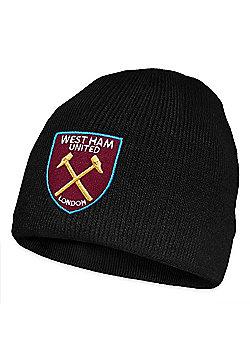 West Ham United FC Knitted Hat - Black & Multi