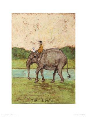 Sam Toft Two Riders Print 30x40cm